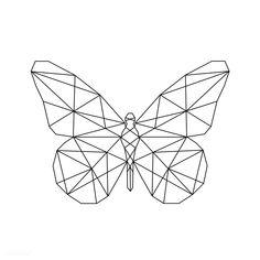 dkdjjfj Linear illustration of a butterfly Butterfly Outline, Origami Butterfly, Butterfly Drawing, Butterfly Line Art, Geometric Drawing, Geometric Designs, Geometric Shapes, Geometric Tattoos, Art Colibri