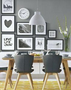15 great ideas for your dining room walls / 15 ideas para decorar las paredes de tu comedor - Casa Haus Deco