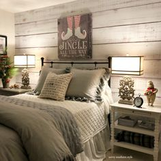 Bedroom makeover before and after - Whimsical Christmas Guest Bedroom – Bedroom makeover before and after Cozy Bedroom, Modern Bedroom, Master Bedroom, Bedroom Decor, Bedroom Ideas, Bedroom Makeovers, Bedroom Rustic, Decor Room, Bedroom Bed