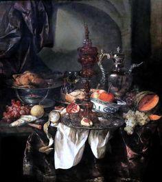 """""""Nature morte"""", Abraham van Beyeren, vers 1660."""