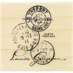 """Add a touch of vintage flair to your projects with this Tres Port Postal stamp from Inkadinkado. Use it in your scrapbook layouts, handmade cards, collages, altered books, photo frames, and a host of other projects.    Stamps size: 1 5/8"""" x 1 3/4"""""""