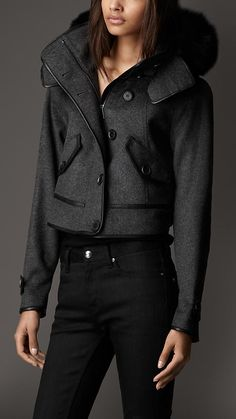 Leather Trim Bomber Jacket | Burberry