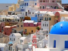 I want to go to Greece and get my own picture of the colorful hillside.