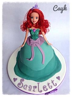 Ariel doll cake-think I can do this one!