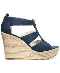 MICHAEL Michael Kors Damita Platform Wedge Sandals - Espadrilles - Shoes - Macy's