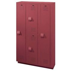 "Lenox Plastic Lockers 2 Tier 3 Wide Locker Color: Deep Blue, Size: 60"" H x 18"" W x 12"" D"