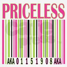 I have this shirt...one of my faves! Alpha Kappa Alpha barcode