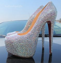 Christian Louboutin GENUINE Swarovski crystals by RedEnvelopeGifts, $2000.00