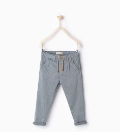 ZARA - KIDS - Textured weave chinos