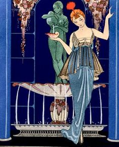 Glamour of Art Deco. George Barbier (1882-1932) La Fontaine de coquillages, da Gazette du Bon Ton, marzo 1914
