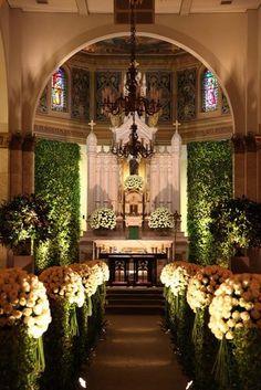 Church Wedding Decorations Aisle, Church Ceremony, Wedding Centerpieces, Wedding Church, Fall Wedding, Rustic Wedding, Star Wedding, Wedding White, Flower Centerpieces