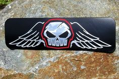 Grille Badge Emblem Billet Batman Classic Logo Matte Black Powder Coated