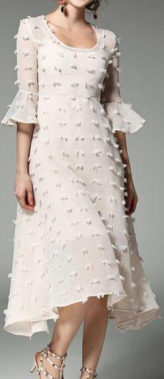Chiffon Blended Appliqued Dress