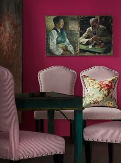 Ipanema Collection•Our new and beautiful Bacall Chairs in Pico Pink