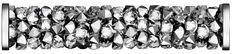 SWAROVSKI® 5950 Fine Rocks Tube (001 LTCH Crystal Light Chrome) Swarovski, Innovation, Tube, Rocks, Chrome, Spring Summer, Steel, Crystals, Abstract