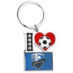Montreal Impact I Love Soccer Keychain - $3.79