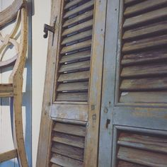 Old Bellman chair and window shutters for France.