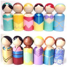 the princess collection - single standard size princess peg doll