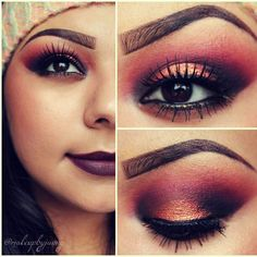 eyebrows are too intense but love the eye makeup