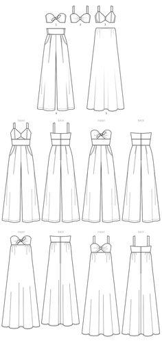 Fashion Design Drawings, Fashion Sketches, Clothing Patterns, Dress Patterns, Coat Patterns, Diy Fashion, Ideias Fashion, Origami Fashion, Fashion Details