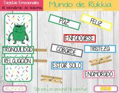 #EMOCIONAL TARJETAS DE EMOCIONES DEL MONSTRUO DE COLORES -Orientacion Andujar