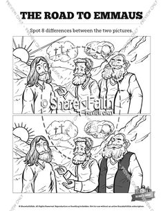 Luke 17 Ten lepers Kids Spot The Difference: Think these