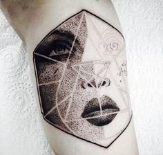 Deftones Diamond Eyes dotwork tattoo