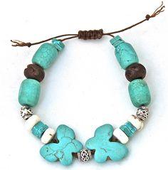 Butterfly Tribal Stacking Macramé Bracelet.  halcraft.com