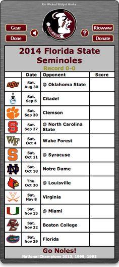 BACK OF WIDGET - Free 2014 FSU Seminoles Football Schedule Widget - Go Noles! - National Champions 2013, 1999, 1993  http://riowww.com/teamPages/Florida_State_Seminoles.htm