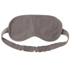 Cotton jersey eye mask. Designed to aid a comfortable sleep when travelling, this soft jersey eye mask folds away neatly into its own cotton pouch. Measurements are 9cms x 20cms.