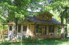 cordwood ranch house