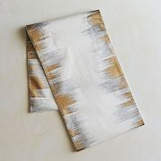 gold + silver ikat table runner