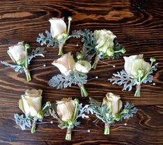 winter wedding [KM - lovely button hole ideas]