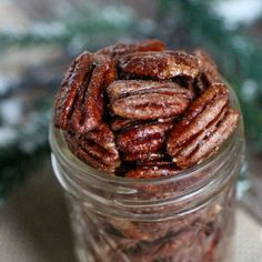 Quick, the holidays are coming! Whip up a batch of these holiday spiced pecans to set around the house, add to salads and send home in mason jars with your guests. #holidayrecipe