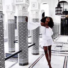 Travel + Lifestyle Maven Lee Litumbe in Morocco.