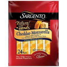 Sargento® Natural Blends™ Cheddar-Mozzarella Cheese Sticks - 24 pk.