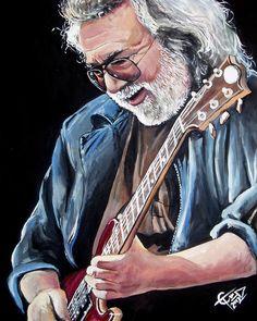 Jerry Garcia - The Grateful Dead Painting  - Tom Carlton