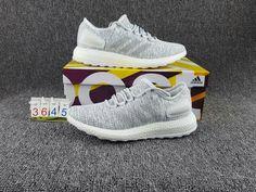 cf80f4ab764b UK Trainers 2017 Adidas Mens Pure Boost Running Shoes White Grey BA8893  Kratz Sporting Goods Popular