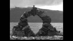 Stacked stone sculpture