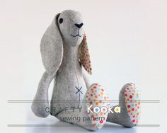 Looking for your next project? You're going to love  PDF sewing pattern - Rabbit Pattern by designer crafty.koooka.