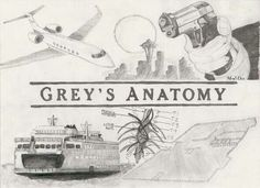 A great drawing which shows the most emotional moments of Grey's Anatomy