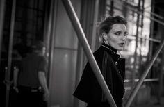 """Nadja Auermann """" Walking """" by Peter Lindbergh Vogue Italia October 2016"""