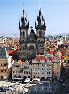 Tyn Church in Prague...a favorite town center of mine.