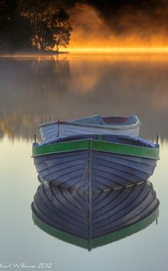 Early morning mist at Loch Rusky near Callander, Scotland
