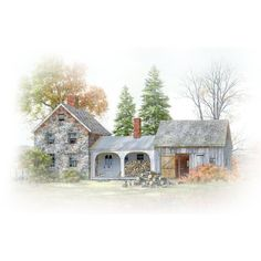 ads_mistedtube_building_farm1.png ❤ liked on Polyvore featuring effects and house