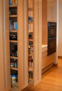 "pullout pantry, full-extension glides  from ""a friendly house"""
