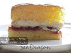 Feather-Light Sponge Cake with Jam & Cream – Corner Café Light Sponge Cake Recipe, Sponge Recipe, Sponge Cake Recipes, Tall Cakes, Round Cakes, Cooking Ingredients, Cake Ingredients, Buckwheat Cake, Zucchini Cake