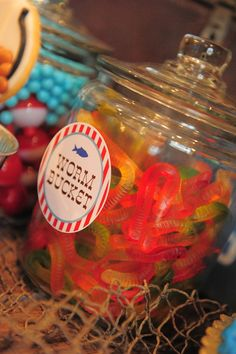Kara's Party Ideas Gone Fishing Birthday Party Planning Ideas Cake Decorations Idea Halloween Birthday, 3rd Birthday Parties, Birthday Fun, Birthday Ideas, 10th Birthday, Birthday Celebration, Birthday Table, Mermaid Birthday, Birthday Cards