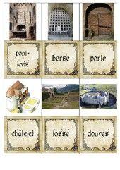 Moyen-âge : mémory sur l'architecture d'un château-fort
