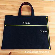 小学校入学準備、お道具箱が入る手提げ袋のサイズと作り方 | ハンドメイドで楽しく子育て handmadeby.cue